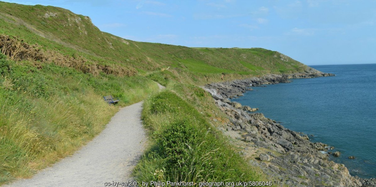The Clifftop path to Langland Bay from Caswell Bay