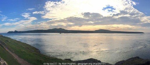 Ramsey Island View across the Sound towards Ramsey Island.