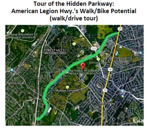 East Roslindale Hidden Parkway Map