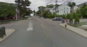 Intersection of Metropolitan Ave and Kittredge Street