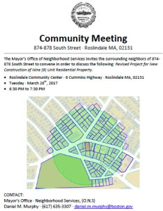 874 South Street Meeting Flyer