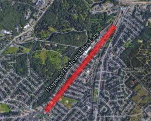 Proposed Washington Street Dedicated Bus Lane