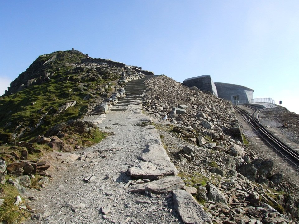 The Llanberis Path up Snowdon, nearing the summit
