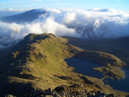 view from crib goch