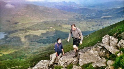 walks in snowdonia Nantlle Ridge Scramble