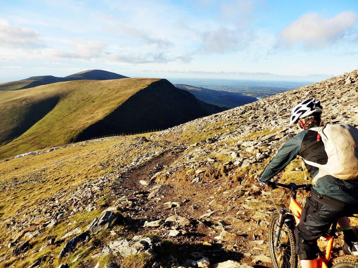 Mountain Biking up Snowdon