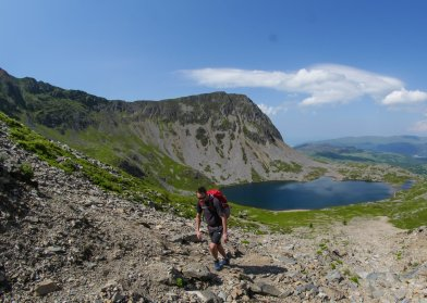 Top of the Fox's Path up Cader Idris - after the SCREE!