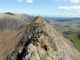 Crib Goch - IMG7 - Looking back along the ridge