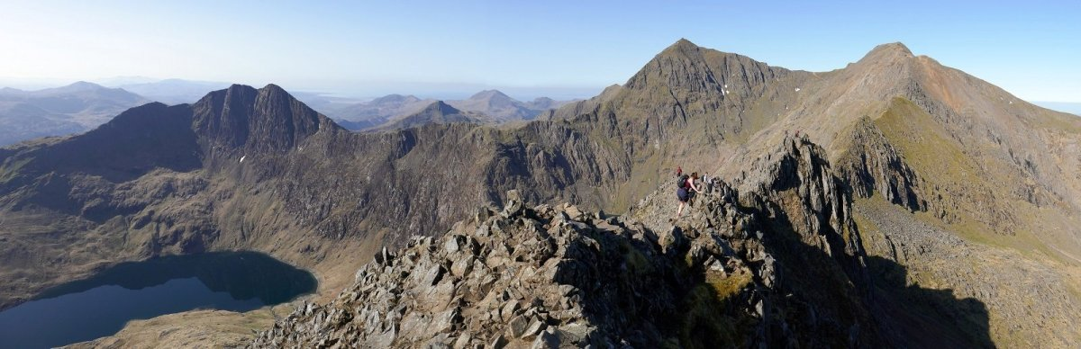 Paths up Snowdon in Order of Difficulty