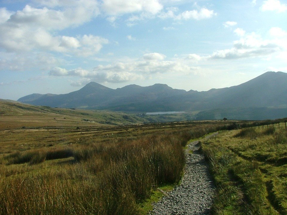 Snowdon Ranger Path as the Snowdon Three Peaks Route