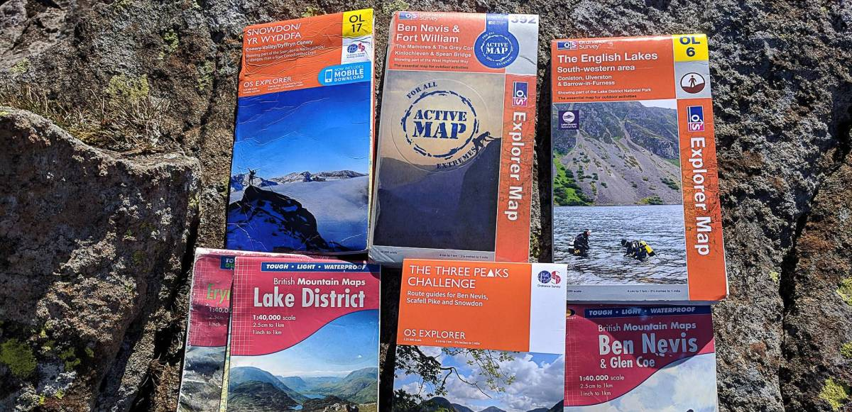 Maps for the National 3 Peaks Challenge