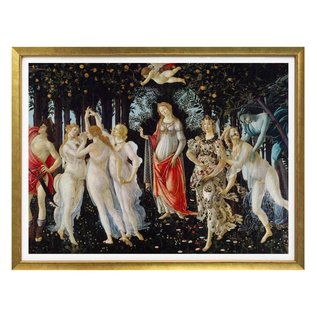 Poster Botticelli  Der Frhling  wallartde