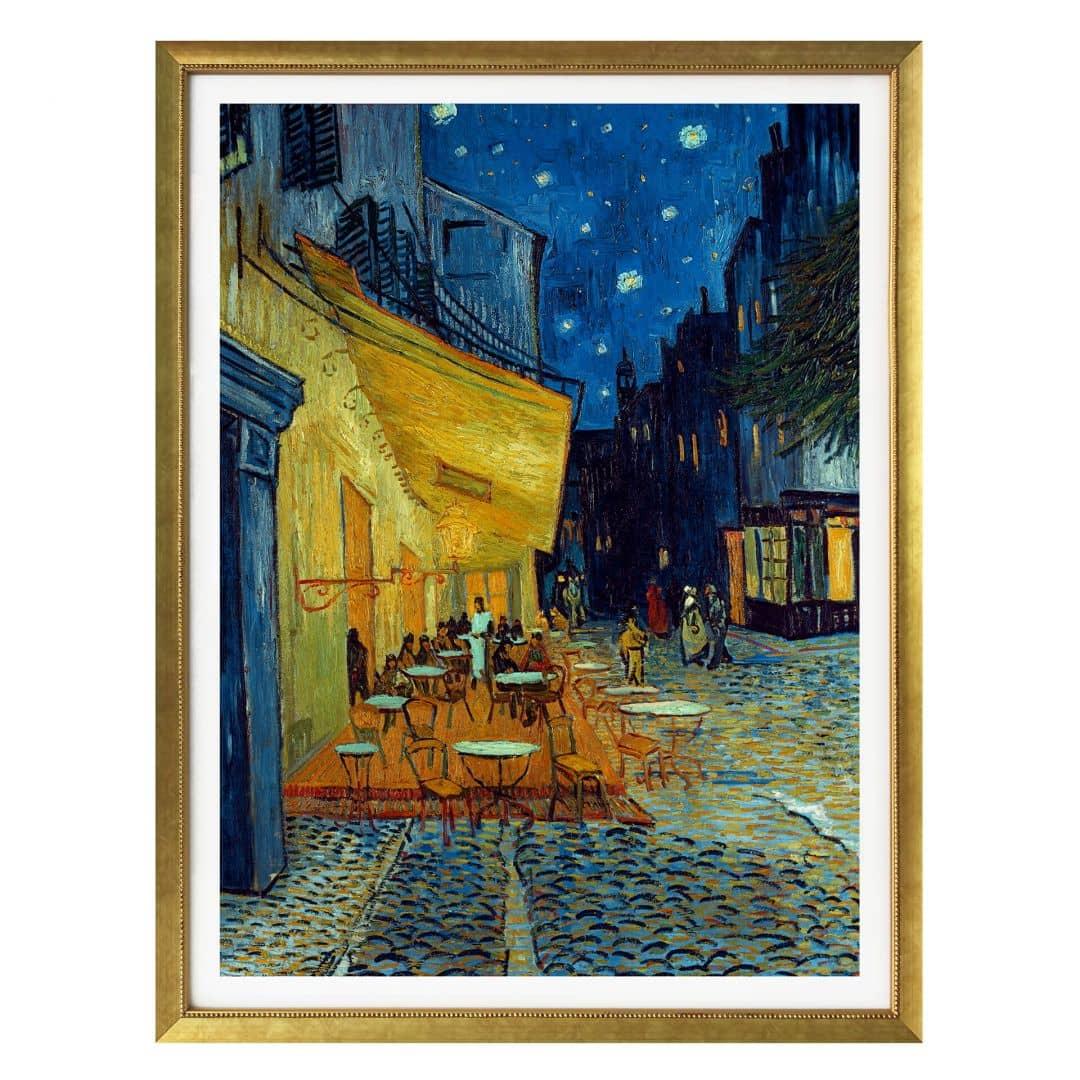 Poster van Gogh  Terrazza del caff di sera  wallartit