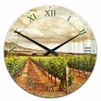 Acrylic Wall Clock Vine Branch in the Mountains