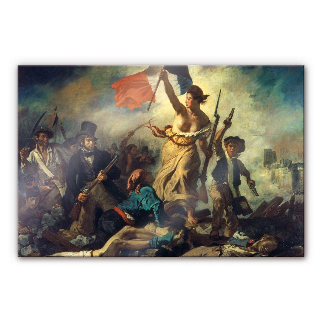 Acrylglasbild Delacroix  Die Freiheit fhrt das Volk