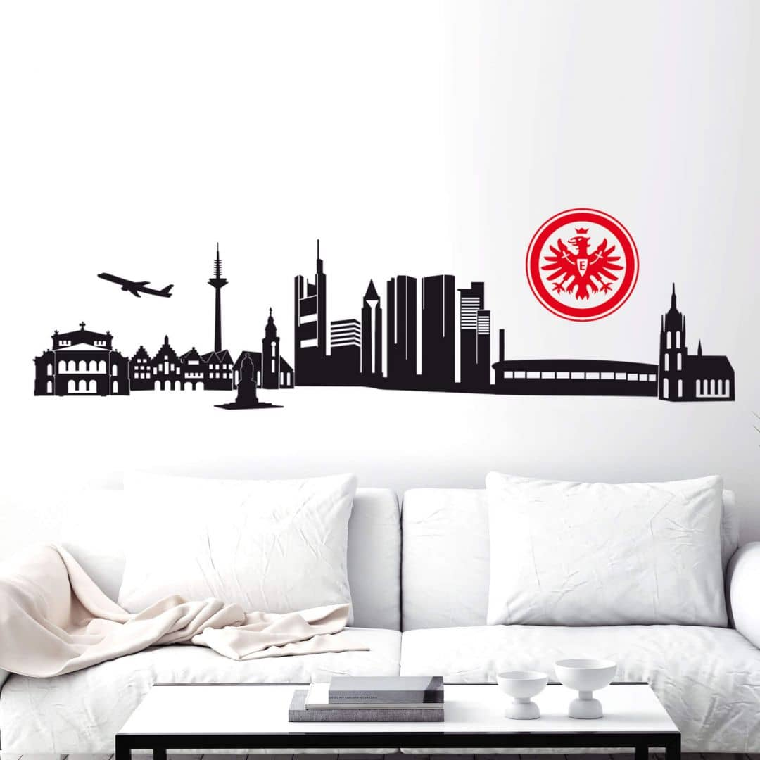 Wandtattoo Eintracht Frankfurt  Frankfurter Skyline mit