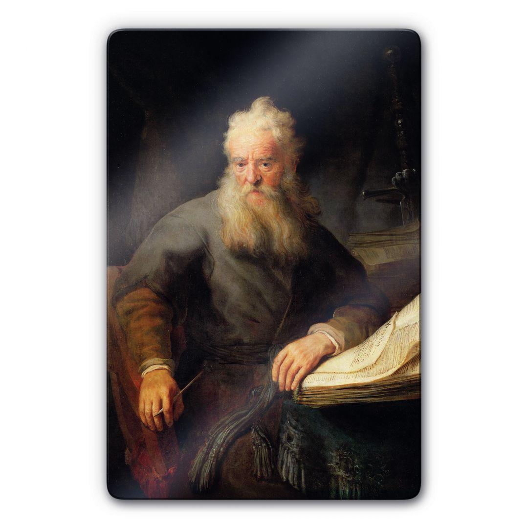 Kunstdruck Rembrandt Apostel Paulus auf Glas als