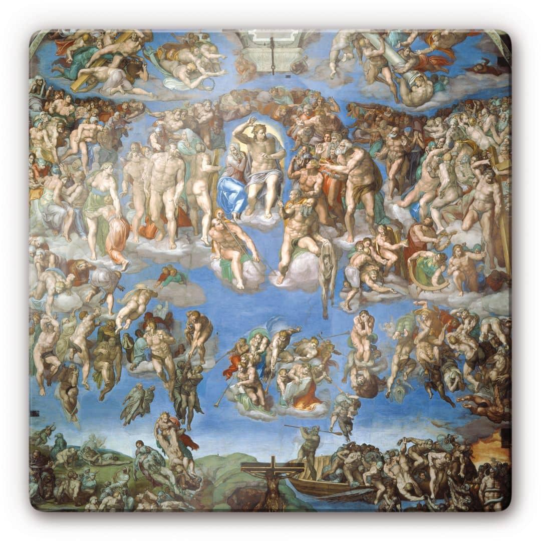 Kunstdruck Michelangelo Das jngste Gericht auf Glas als