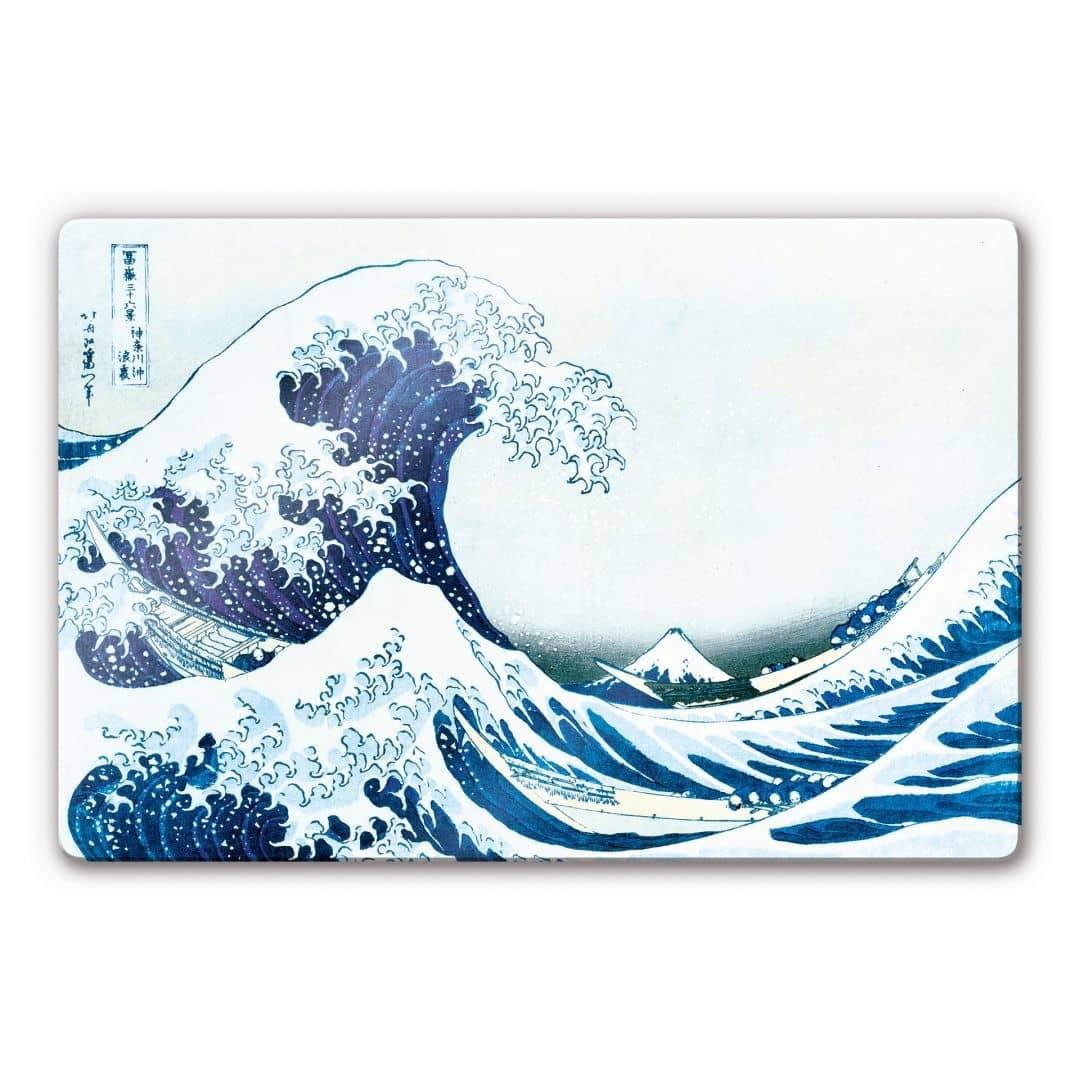 Kunstdruck Katsushika Hokusai Die groe Welle von Kanagawa auf Glas als Dekoration  wallartde