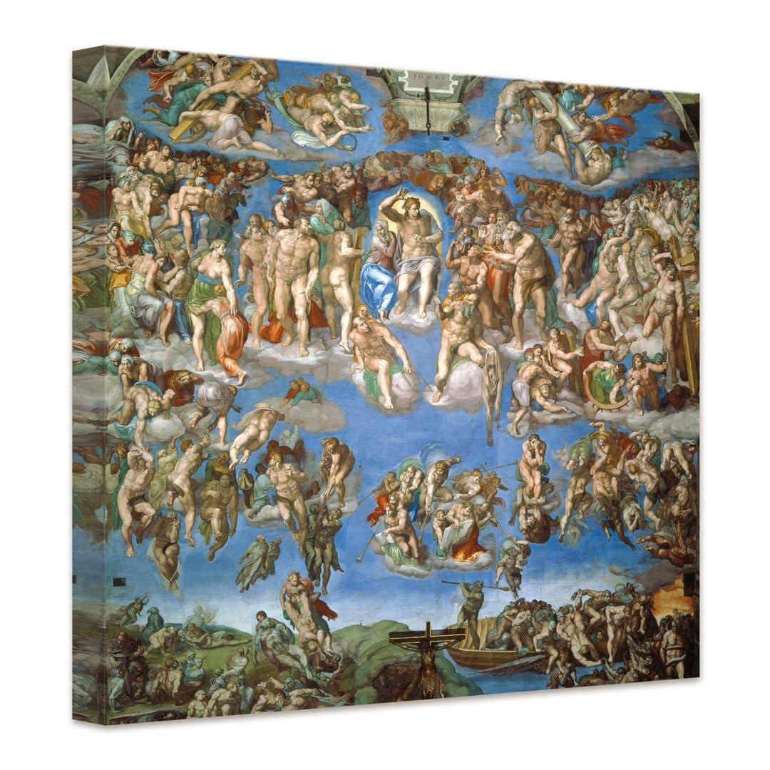 Kunstdruck Michelangelo Das jngste Gericht auf Leinwand