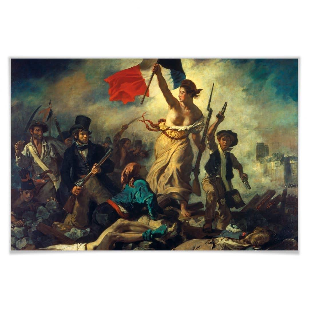 Poster Delacroix  Die Freiheit fhrt das Volk  wallartde