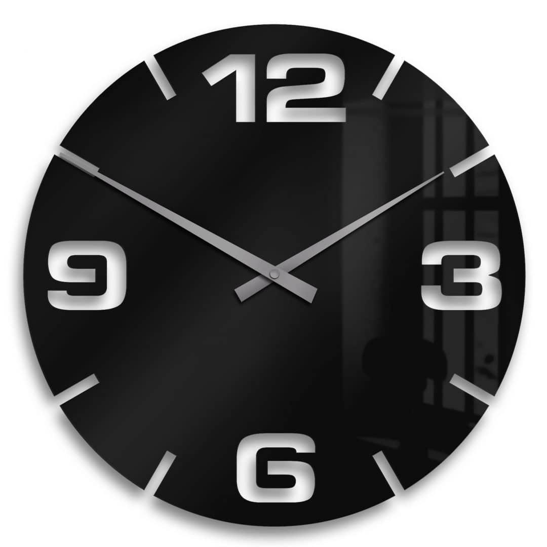 AcrylglasUhr Modern mit Uhrwerk  wallartde