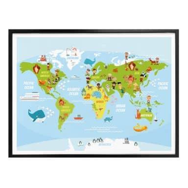 world maps wall art com
