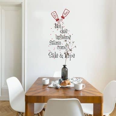 Facile e perfetto, adesivo murale ideale per la casa e le mura, come cucina,. Frasi Murali Adesive In Italiano Wall Art It