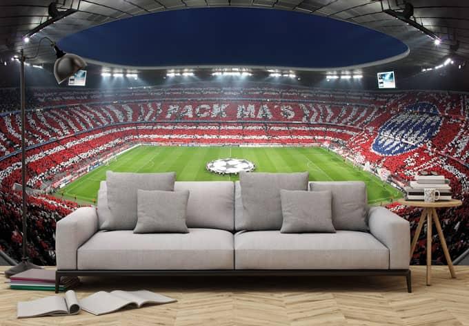 Fototapete Bayern Mnchen Stadion Choreo Pack Mas  wall