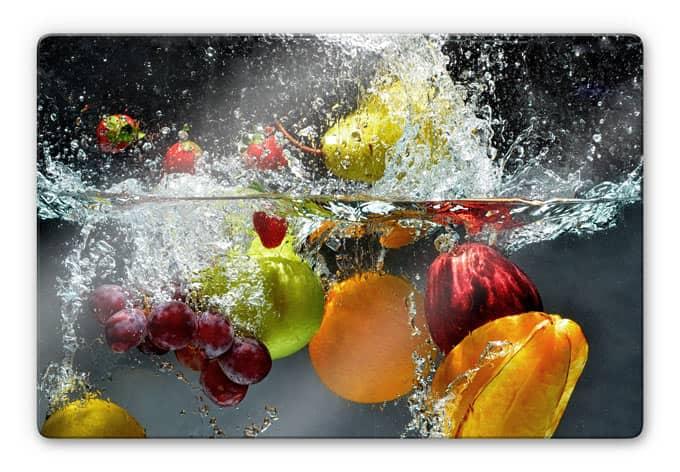 Glasbild Erfrischendes Obst  FrischeKick fr die Wand