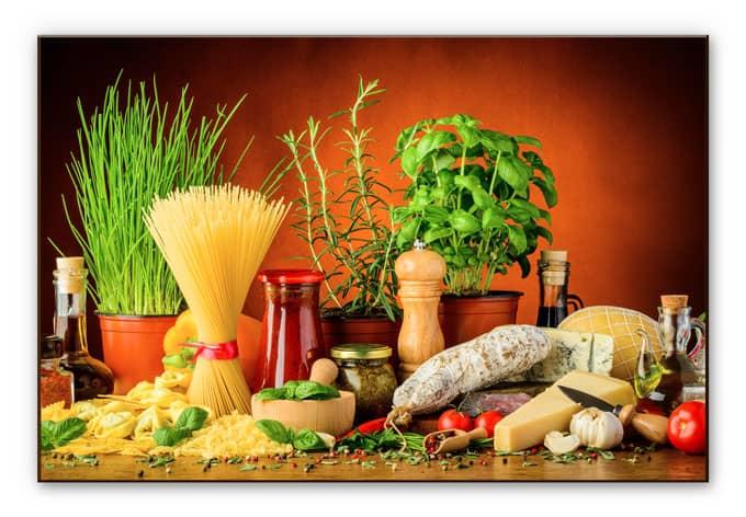 Credence Cuisine En Verre Imprime