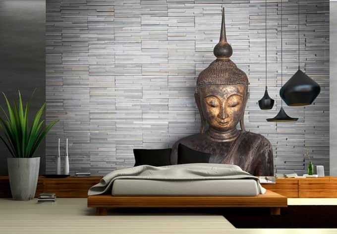 Fototapete Thailand Buddha  Ruhe und Entspannung fr die Wand  wallartde