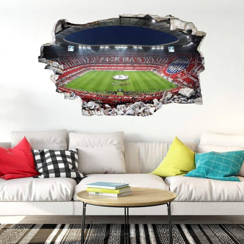 3D Wandtattoo FC Bayern Pack Mas  wallartde