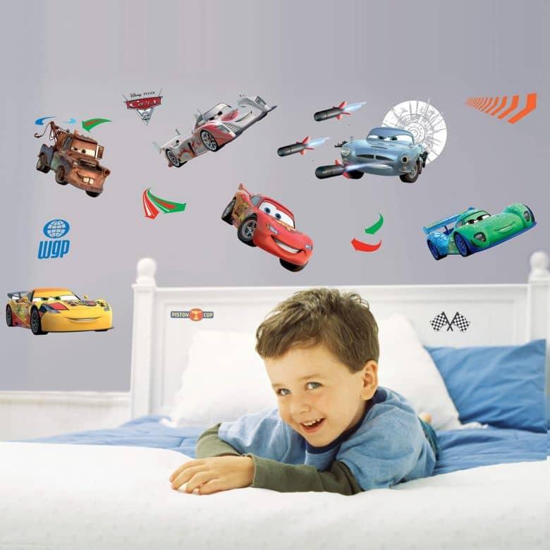 Made in italy, intagliati al vivo, pronti e facili da applicare. Set Di Adesivi Murali Disney Cars Wall Art It