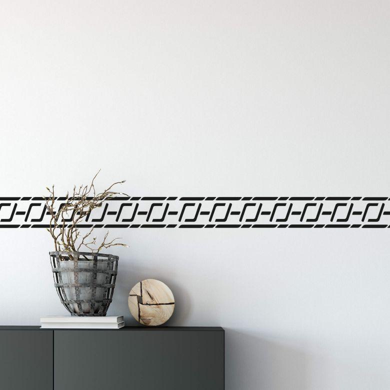 15mm di larghezza x 3 metri di lunghezza, 60 diversi disegni ((10 colori a tinta unita 50 con motivi)) uso: Adesivo Murale Bordo Adesivo Mediterraneo Wall Art It
