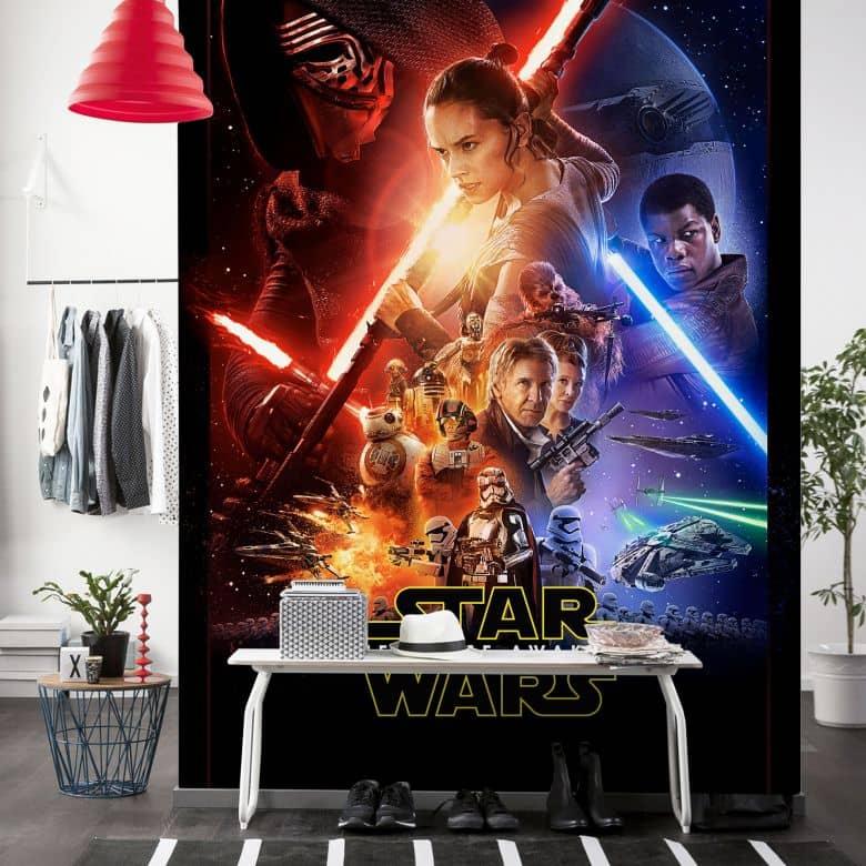 Vlies Panel Star Wars EP7 Official Movie Poster VD046 120 x 200 cm  wallartde