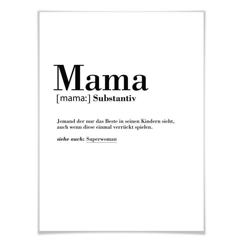 Poster Grammatik  Mama  wallartde