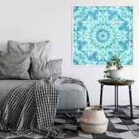 Wandsticker Turquoise Mosaic mit Zierleisten-Rahmen | wall ...
