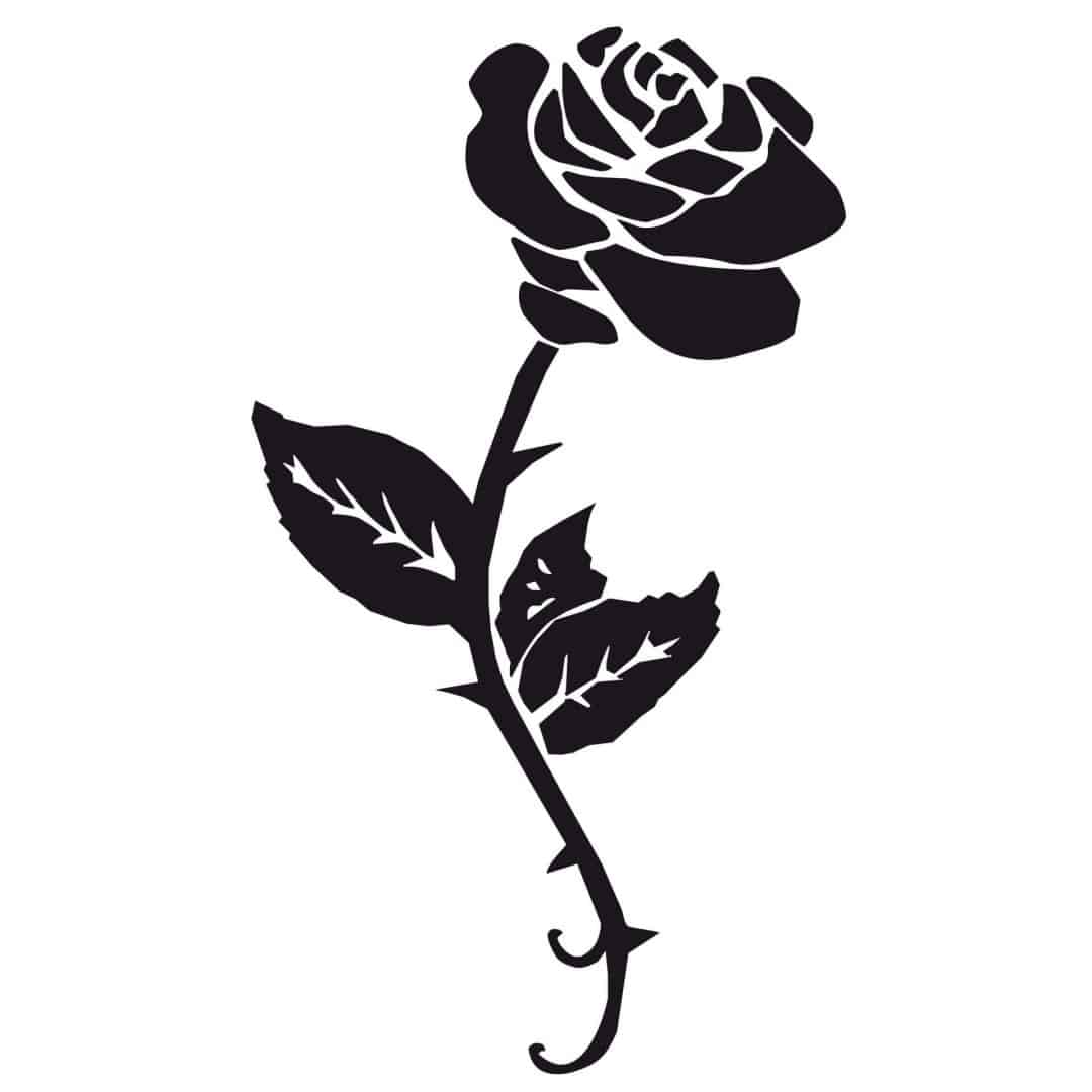 Wandtattoo Rose  Rosenblten zum Aufkleben  wallartde