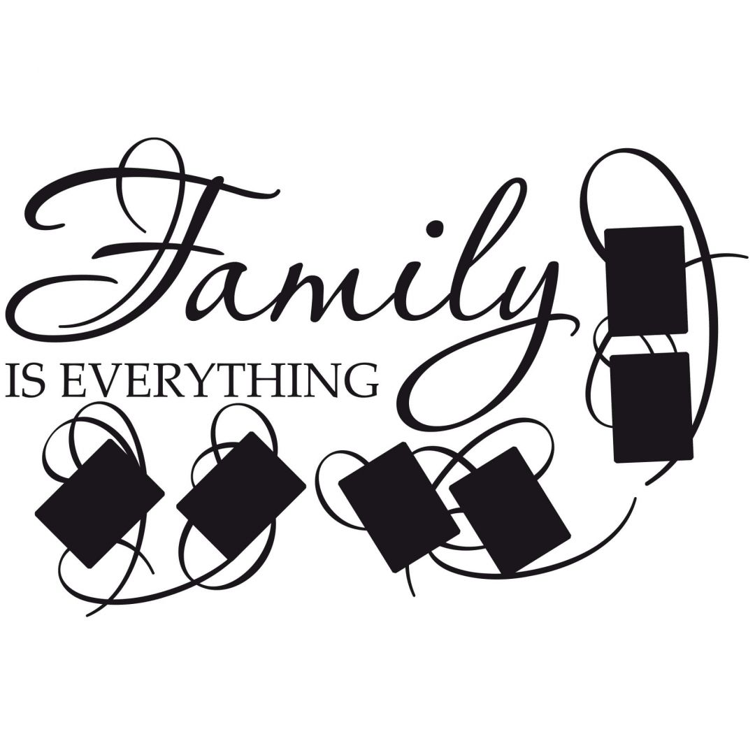 Family Is Everything Photo Space Wall Sticker