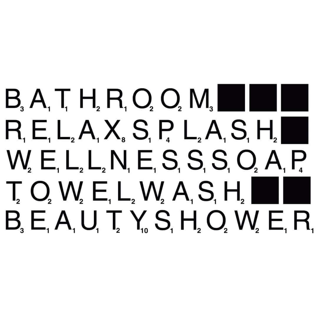 Wall Sticker Bathroom Scrabble