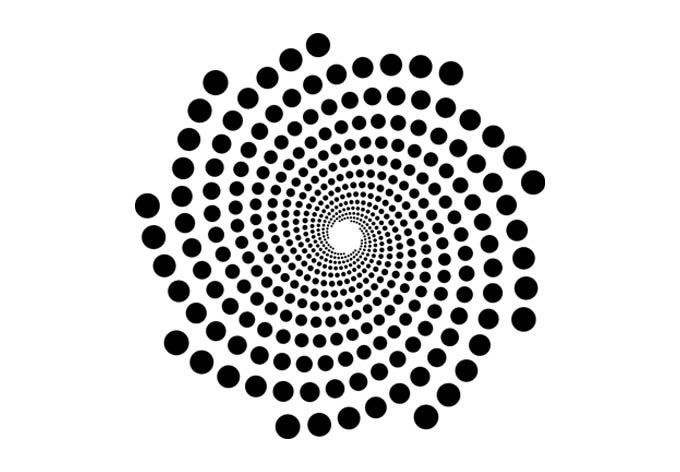 Wandtattoo Spirale  optische Tuschung zum Aufkleben  wallartde
