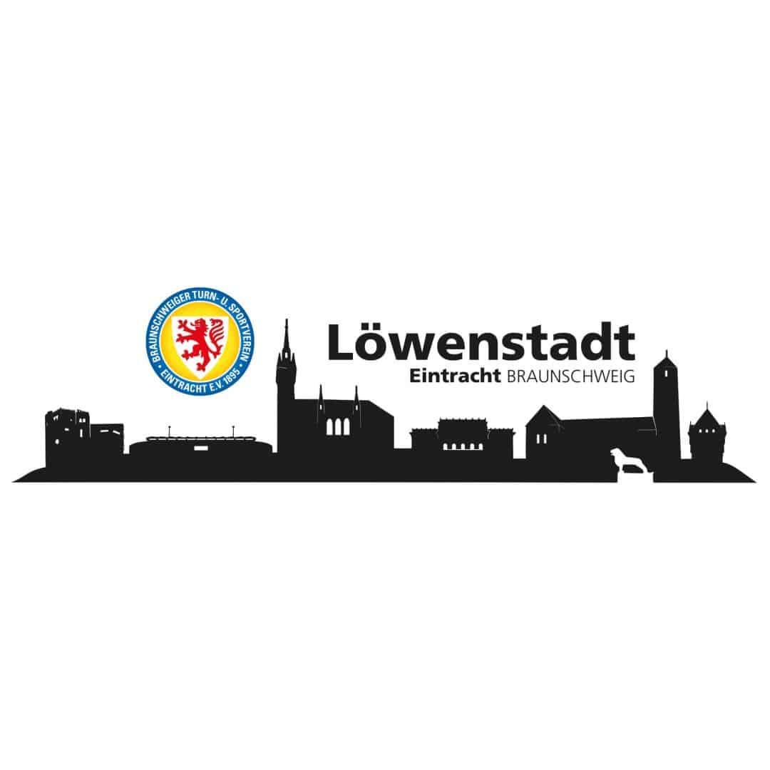 Eintracht Braunschweig Skyline  Deko vom BTSV  wallartde