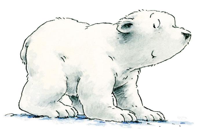 Lars der kleine Eisbär - originale Wandtattoos für Kinder