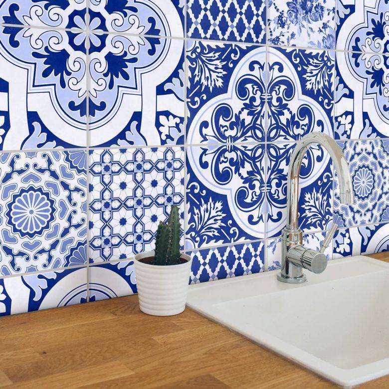 sticker carrelage azulejos portugais