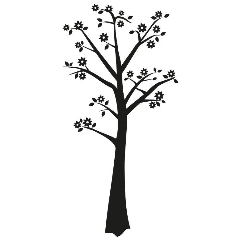 sticker mural arbre fleuri 3 crochets