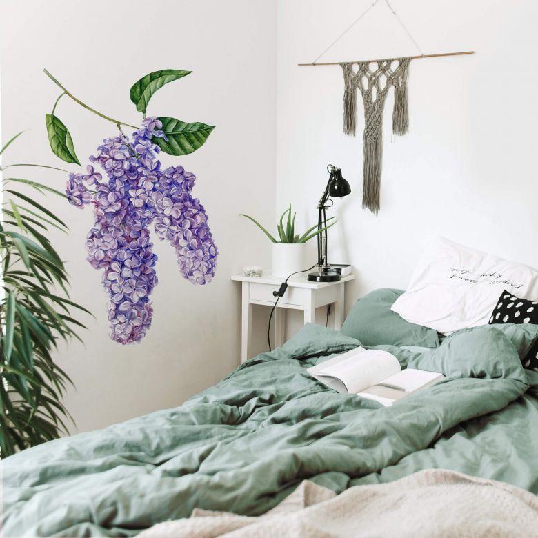 La camera da letto è presumibilmente il luogo predisposto a ospitare il relax, per cui il requisito fondamentale è che garantisca una certa atmosfera conciliatoria. Adesivo Murale Lilla Xxl Wall Art It