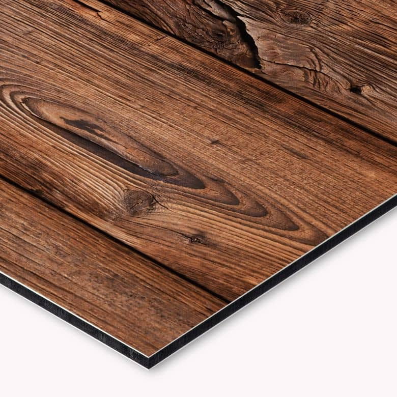 revetement pour cuisine alu dibond planche de bois