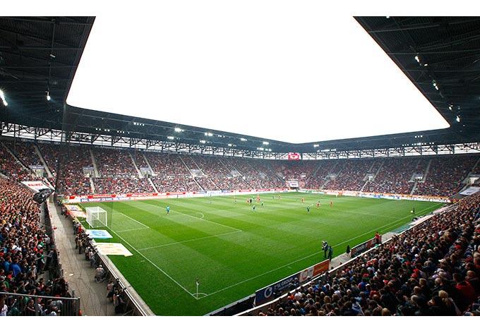 Fototapete FC Augsburg Stadion Innenansicht  wallartde