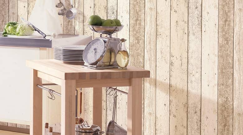 Holzoptik Tapete online kaufen  wallartde